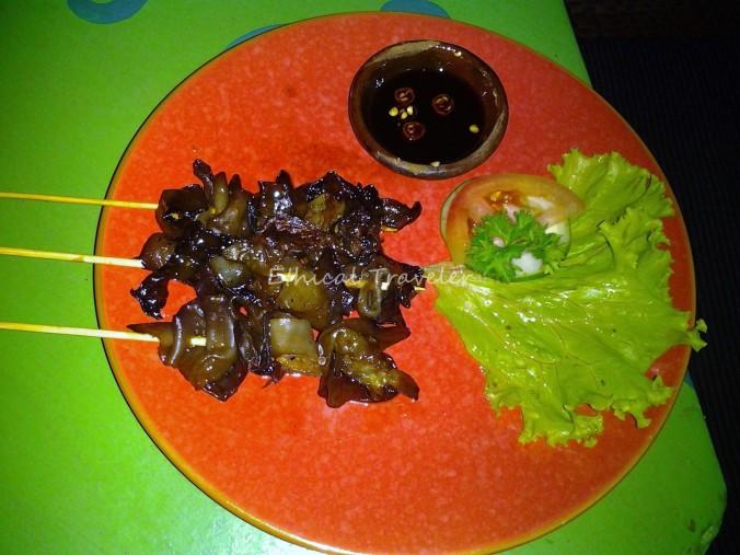 mushroom satay at Milas Veg restaurant